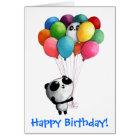 Birthday Balloons Panda Bear Card