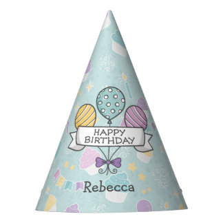 Birthday Balloons party hat