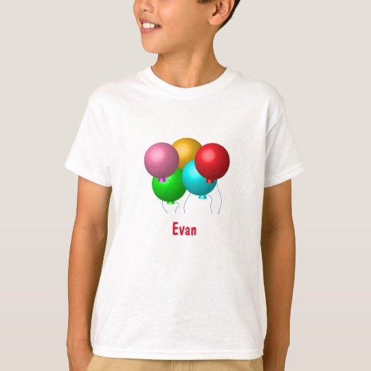 Birthday Balloons with Name T-Shirt
