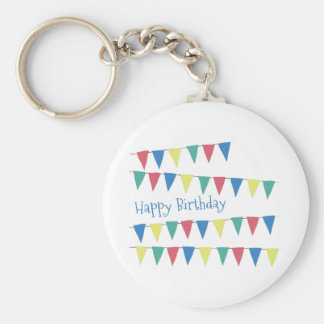 Birthday Banner Flags Key Chains