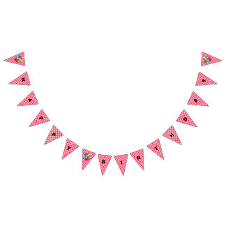Birthday Banner--Red Gingham Bunting