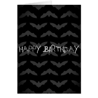 Birthday Bat Crazy Greeting Card