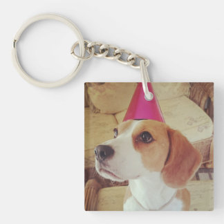 Birthday Beagle keyring