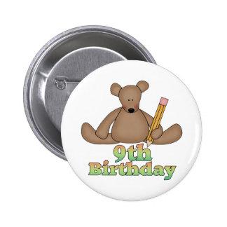 Birthday Bear 9th Birthday Gifts 6 Cm Round Badge