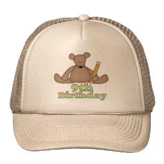 Birthday Bear 9th Birthday Gifts Cap