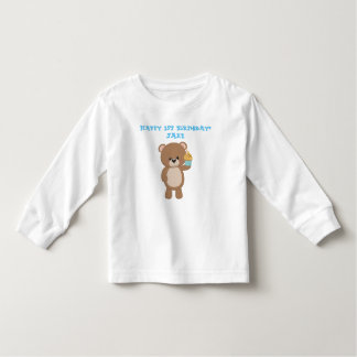 Birthday Bear With Cup Cake Toddler T-Shirt