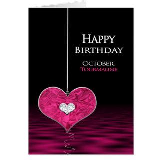 Birthday - Birthstone - October - Tourmaline Card