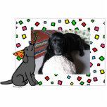 Birthday Black Labrador Cartoon Photo Frame