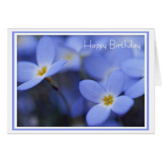 Birthday - Bluettes Greeting Card