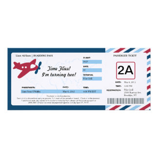Birthday Boarding Pass Ticket Personalised Announcements