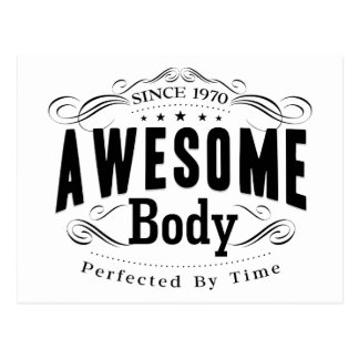 Birthday Born 1970 Awesome Body Postcard