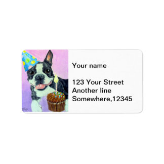 Birthday Boston Address Label