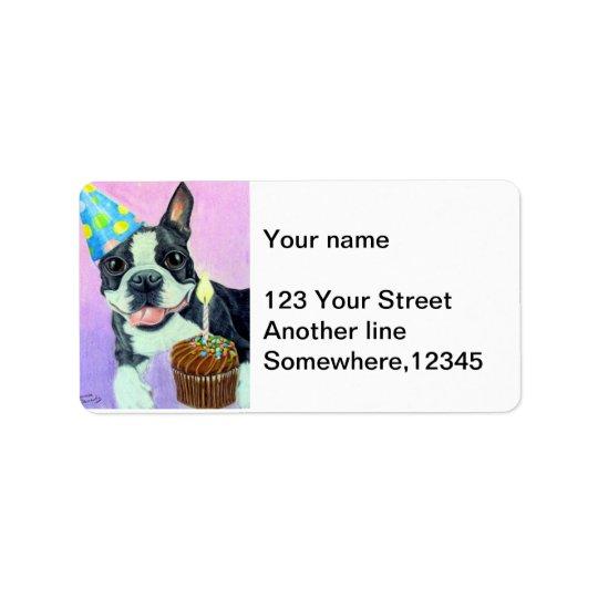 Birthday Boston Address Label