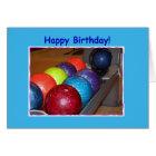 Birthday Bowling Balls Card