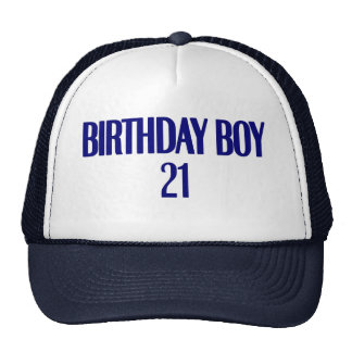 Birthday Boy 21 Cap