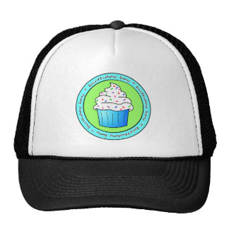 Birthday Boy Blue Cupcake with Sprinkles Hat