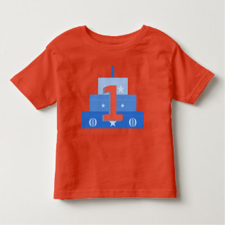 Birthday Boy, Blue & Red Birthday Cake Shirt