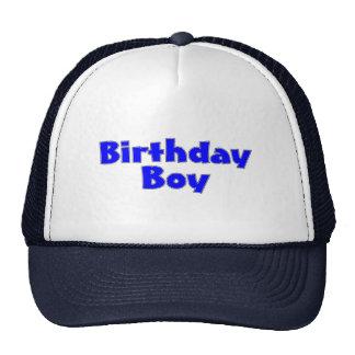 Birthday Boy Blue Trucker Hats