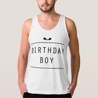 """Birthday Boy Bow"" Singlet"