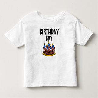 Birthday Boy Cake Toddler T-shirt