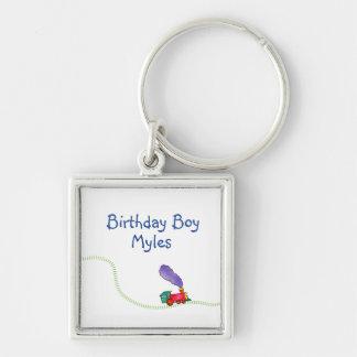 Birthday Boy (child's name) Train Key Ring