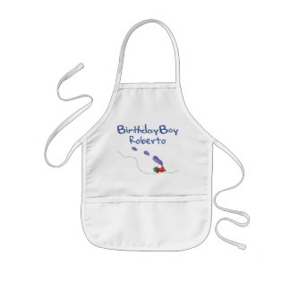 Birthday Boy (child's name) Train Kids Apron