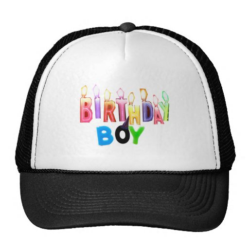 Birthday Boy Colorful Candles Collage Hat