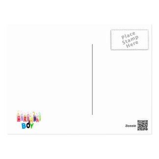 Birthday Boy Colorful Candles Collage Post Card