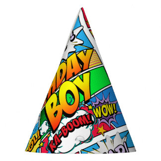 Birthday Boy Comic Book Party Hat
