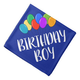 Birthday Boy dog bandana | Funny pet neckerchief