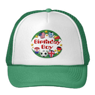 Birthday Boy  Football Design ~  Hat