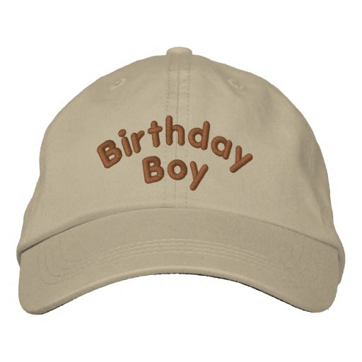 Birthday Boy Funny Embroidered Hat