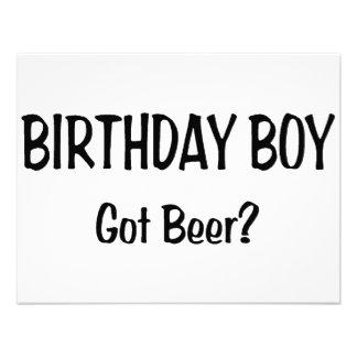 Birthday Boy Got Beer Custom Announcements