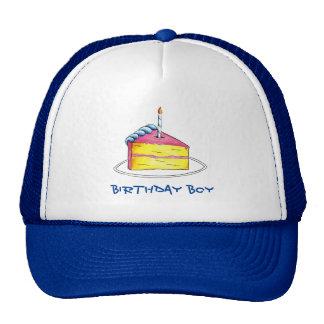 Birthday Boy Happy Birthday Cake Slice Candle Hat