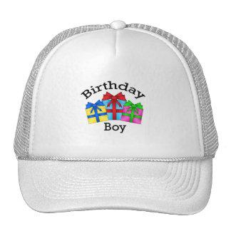 Birthday boy in black with presents hat