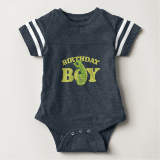 birthday boy lizard chameleon baby bodysuit