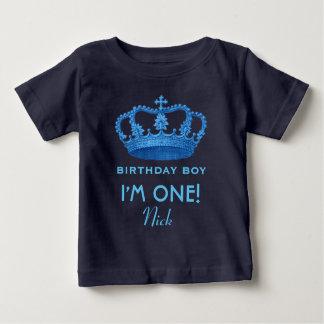 Birthday Boy Royal Prince Crown One Year Old V079 Baby T-Shirt