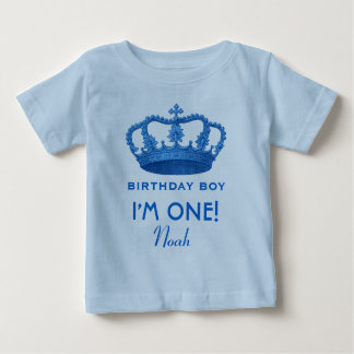Birthday Boy Royal Prince Crown One Year Old V07N Tees