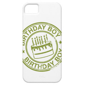 Birthday Boy -rubber stamp effect- green iPhone 5 Case