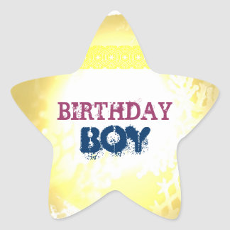 Birthday Boy Star Stickers