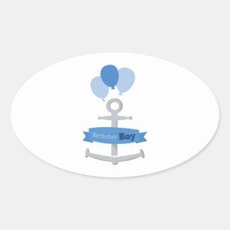 Birthday Boy Oval Stickers