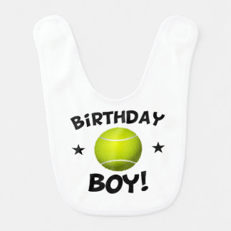 Birthday Boy Tennis Bib
