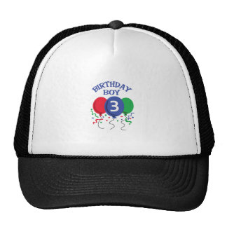 BIRTHDAY BOY THREE CAP