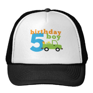 Birthday Boy Truck 5 Trucker Hat