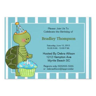 Birthday Boy Turtle Invitation
