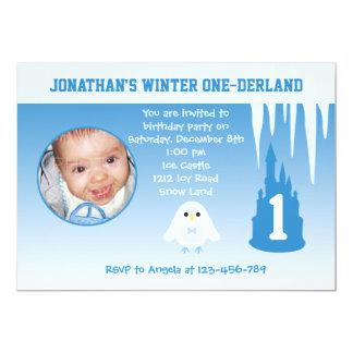 Birthday Boy Winter Onederland invitation