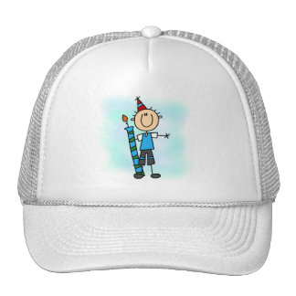 Birthday Boy With Candle T-shirts and Gifts Mesh Hat