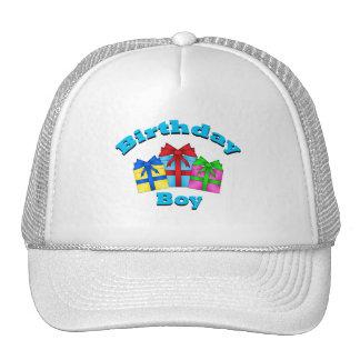 Birthday boy with presents hat