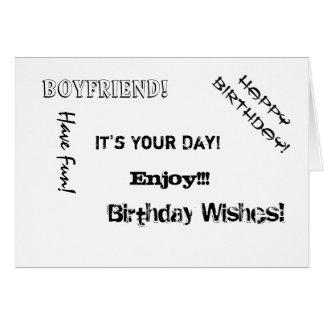 Birthday, Boyfriend, words for a boyfriend. Card