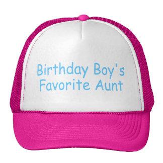 Birthday Boy's Favorite Aunt Cap